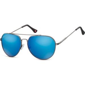 Ochelari Soare Montana Swiss Design Unisex Gunmetal + Revo blue 90