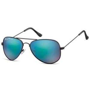 Ochelari Soare Montana Swiss Design Aviator  Matt black + Revo blue
